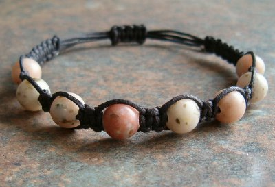 Pink Lepidolite Healing Energy Bracelet