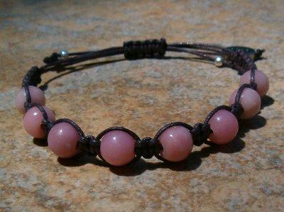 Peruvian Pink Opal Healing Energy Bracelet