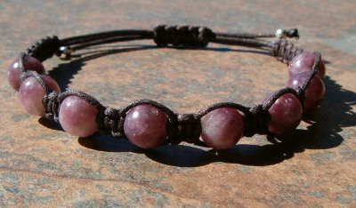 China Pink Tourmaline Healing Energy Bracelet