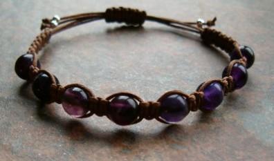 Purple Fluorite Healing Energy Bracelet