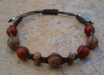 Red & Autumn Jasper Healing Energy Bracelet