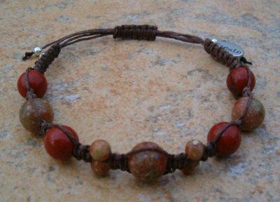 Red & Autumn Jasper Healing Bracelet