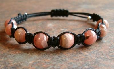 Rhodochrosite Healing Energy Bracelet