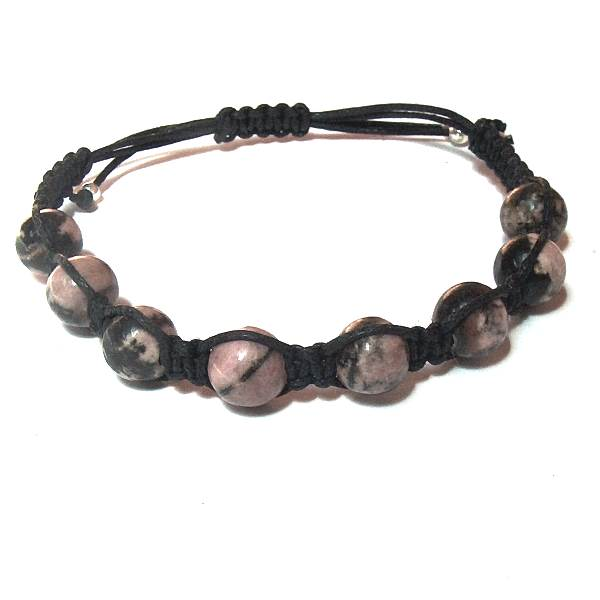 Rhodonite Matrix Healing Energy Bracelet