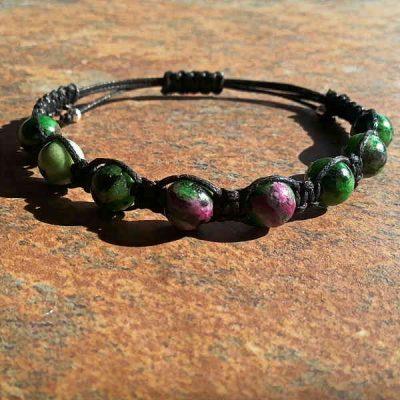 Ruby Zoisite Healing Energy Bracelet