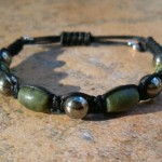 Green Serpentine & Pyrite Healing Energy Bracelet