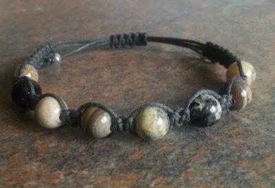 Silver Leaf Jasper Healing Energy Bracelet