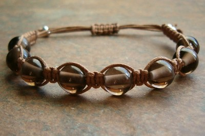 Smoky Quartz Healing Energy Bracelet - medium cord