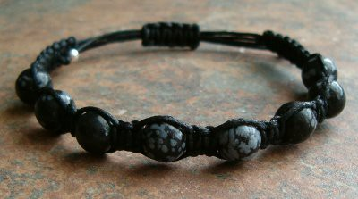 Snowflake Obsidian Healing Energy Bracelet