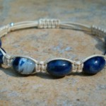 Sodalite Healing Energy Bracelet - beige cord