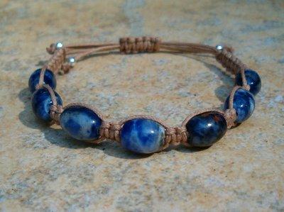 Sodalite Healing Energy Bracelet - medium cord