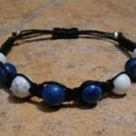 White Howlite & Sodalite Healing Energy Bracelet