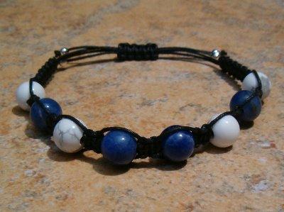 White Howlite & Sodalite Healing Bracelet