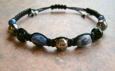 Sodalite, Pyrite & Black Obsidian Healing Energy Bracelet