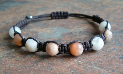 Sunstone and Moonstone Healing Energy Bracelet