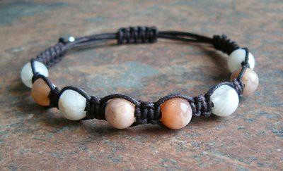 Sunstone And Moonstone Healing Energy Bracelet