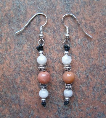 Sunstone & Moonstone Earrings