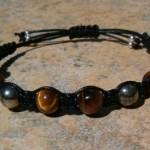 Tiger Eye & Pyrite Healing Energy Bracelet
