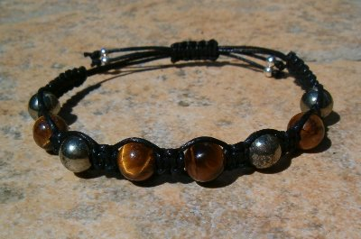Tiger Eye & Pyrite Healing Energy Bracelet