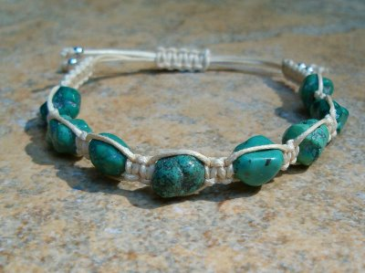 Turquoise Healing Energy Bracelet - Beige