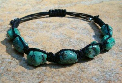 Turquoise Healing Energy Bracelet - Black
