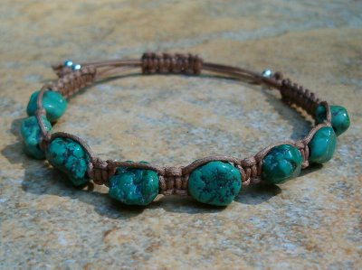 Turquoise Healing Energy Bracelet - Medium